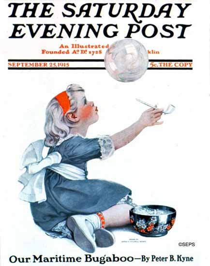 WomenArt Sarah Stilwell-Weber Cover Saturday Evening Post 1915_09_25 | 69 Women Cover Artists and 826 Covers 1902-1970