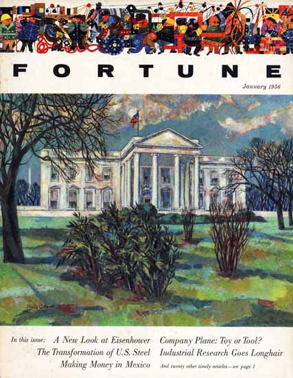 WomenArt Virginia Cuthbert Fortune Magazine January 1956 Copyright | 69 Women Cover Artists and 826 Covers 1902-1970