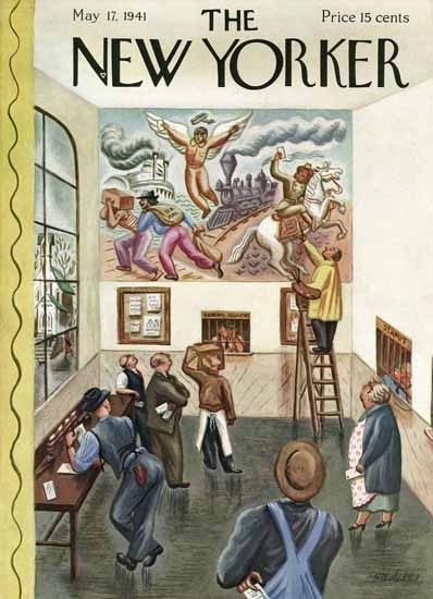 WomenArt Virginia Snedeker Cover The New Yorker 1941_05_17 Copyright | 69 Women Cover Artists and 826 Covers 1902-1970