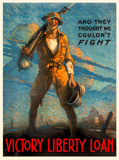 World War 1 Victory Liberty Loan | Vintage War Propaganda Posters 1891-1970
