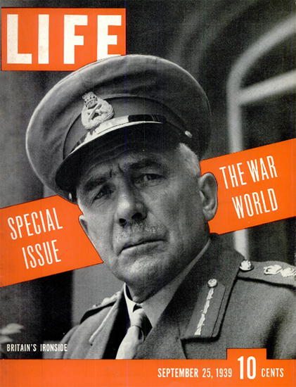 World War Special Issue 25 Sep 1939 Copyright Life Magazine | Life Magazine BW Photo Covers 1936-1970