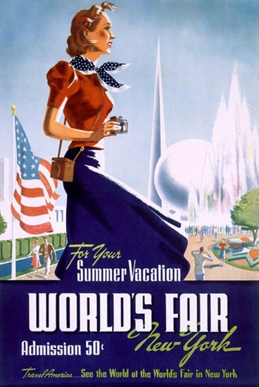 Worlds Fair New York 1939 Vacation Girl | Sex Appeal Vintage Ads and Covers 1891-1970