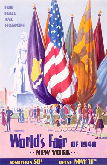 Worlds Fair New York 1940 Flags For Peace | Vintage Ad and Cover Art 1891-1970