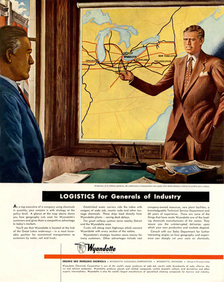 Wyandotte Logistic 1950 | Vintage Ad and Cover Art 1891-1970