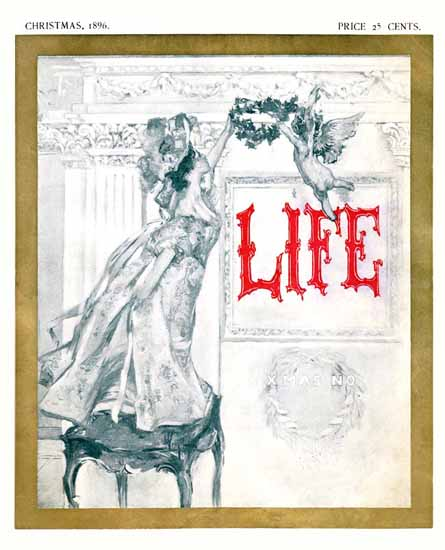 XMAX NO Life Humor Magazine 1896-12-03 Copyright | Life Magazine Graphic Art Covers 1891-1936
