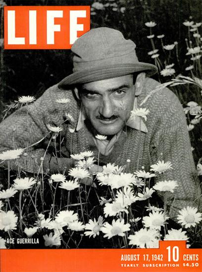 Yank Levy Ace Guerrilla 17 Aug 1942 Copyright Life Magazine   Life Magazine BW Photo Covers 1936-1970