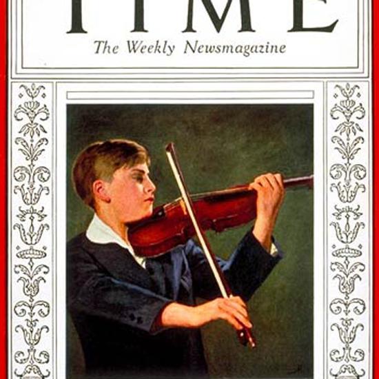 Yehudi Menuhin Time Magazine 1932-02 crop | Best of Vintage Cover Art 1900-1970