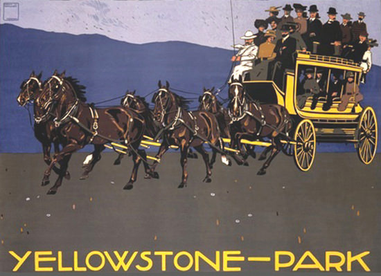 Yellowstone Park Carriage Coach | Vintage Travel Posters 1891-1970