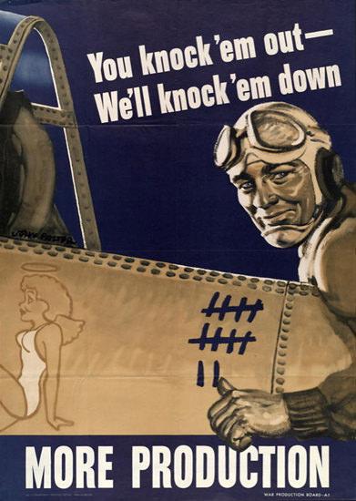 You Knock Em Out Well Knock Em Down | Vintage War Propaganda Posters 1891-1970