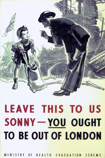 You Ought To Be Out Of London United Kingdom | Vintage War Propaganda Posters 1891-1970