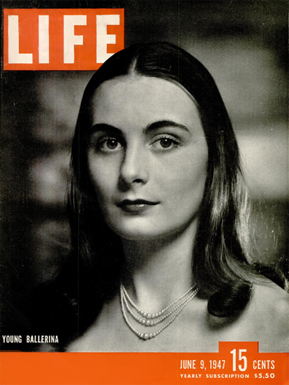 Young Ballerina 9 Jun 1947 Copyright Life Magazine | Life Magazine BW Photo Covers 1936-1970
