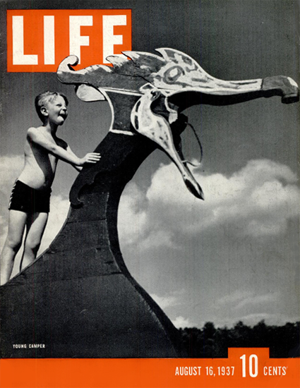 Young Camper 16 Aug 1937 Copyright Life Magazine | Life Magazine BW Photo Covers 1936-1970
