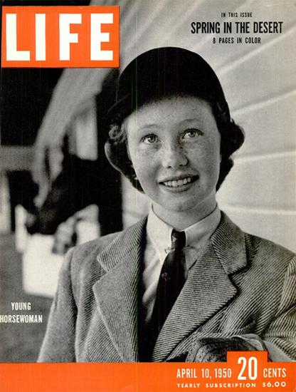 Young Horsewoman 10 Apr 1950 Copyright Life Magazine | Life Magazine BW Photo Covers 1936-1970