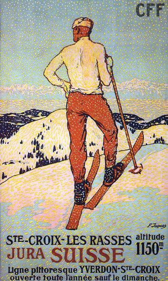 Yverdon Ste Croix Jura Switzerland Suisse | Vintage Travel Posters 1891-1970