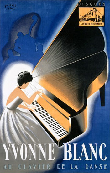 Yvonne Blanc Clavier De Danse His Masters Voice | Sex Appeal Vintage Ads and Covers 1891-1970