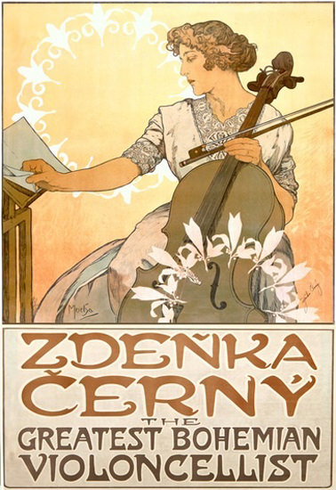Zdenka Cerny Greatest Bohemian Violoncellist | Sex Appeal Vintage Ads and Covers 1891-1970