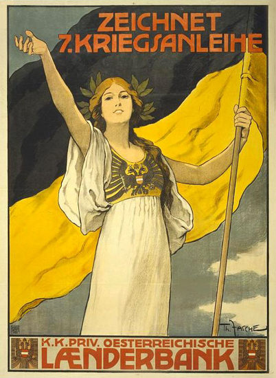 Zeichnet 7 Kriegsanleihe Laenderbank | Vintage War Propaganda Posters 1891-1970