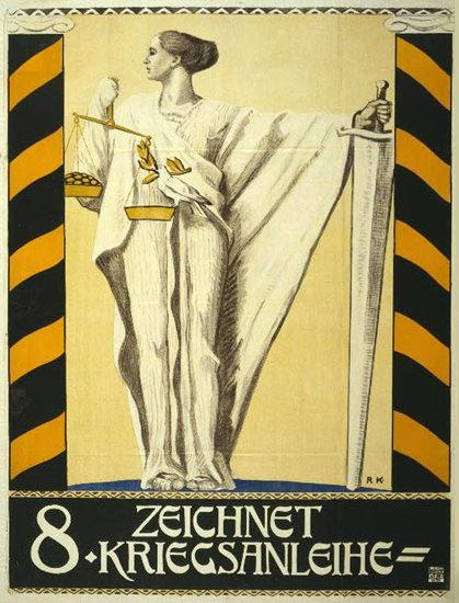 Zeichnet 8 Kriegsanleihe   Vintage War Propaganda Posters 1891-1970