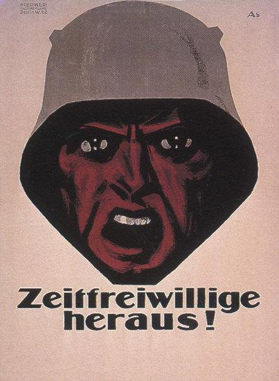 Zeitfreiwillige Heraus Germany Volunteer Join | Vintage War Propaganda Posters 1891-1970